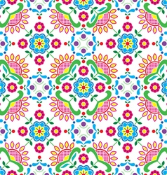 Seamless norwegian traditional folk art pattern vector