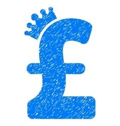 Pound crown grainy texture icon vector