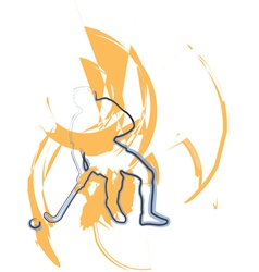 playing hockey vector image