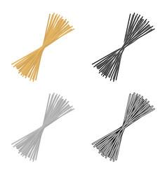 spaghetti pasta icon in cartoon style isolated on vector image