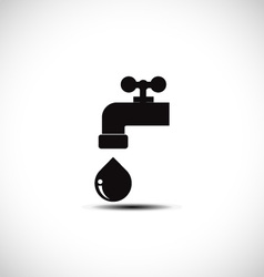 Tap water and pipes vector image