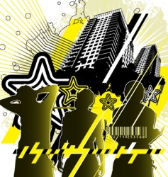 Urban design yellow black vector