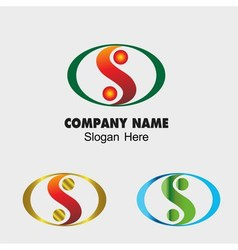 Abstract s letter sign design template vector