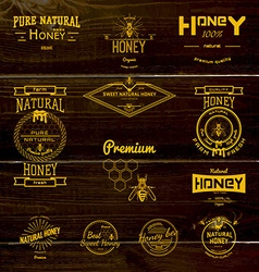 Honey badges logos and labels for any use vector