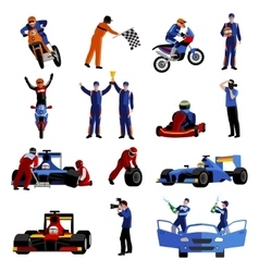 Race icons set vector