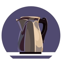 Metal kettle vector