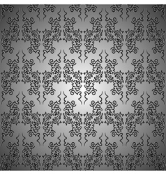 Metallic curls seamless pattern vector