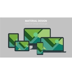 Material design concept of responsive and adaptive vector