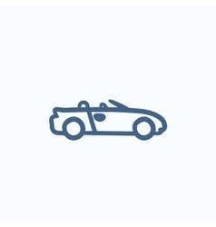 Convertible car sketch icon vector