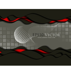 Abstract business design and cutout elements vector image
