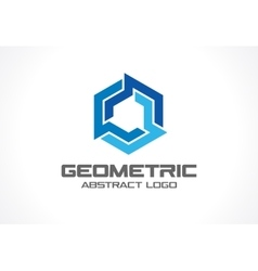 Abstract logo for business company industry vector