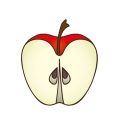 apple fruit icon image vector image