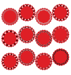 Bandana circle labels vector