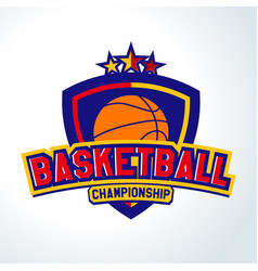 Basketball logotemplates of sport t-shirt vector