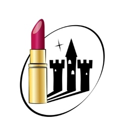 Beauty castle lipstic vector image