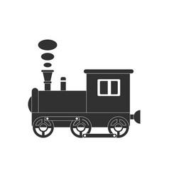 Black icon on white background kids train vector