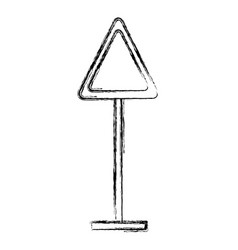 blank road sign vector image vector image
