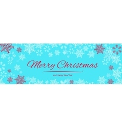 Christmas background with snowflakes border vector image