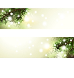 christmas green banner vector image