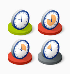 Clock icon in trendy vector