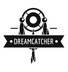 Dreamcatcher logo simple black style vector