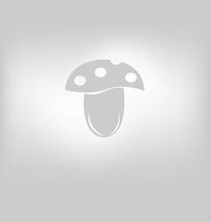 Edible mushroom icon vector