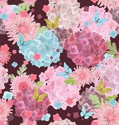 fashion seamless texture with lovely flowers and vector image vector image