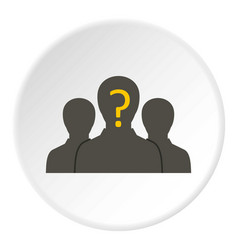 Group of business people icon circle vector
