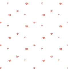 Hearts pattern Pink vector image vector image