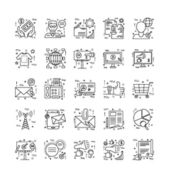 Line Icons With Detail 7 vector image vector image