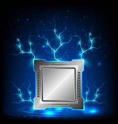 modern generation processor computer technology vector image