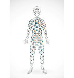 Molecular man vector image vector image