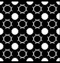 Seamless pattern simple dark floral background vector