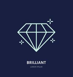 shining brilliant diamond jewelry vector image vector image