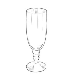 sketch of glass vector image