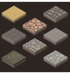 stone tiles kit vector image vector image