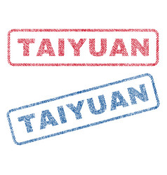 Taiyuan textile stamps vector