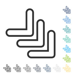 Triple pointer right down icon vector