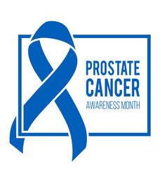 world prostate cancer day symbol vector image