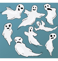 Set of funny ghosts vector