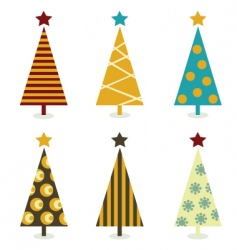 Christmas tree elements vector image