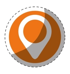 Gps pin button thumbnail icon image vector