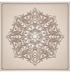 Old lace doily vector