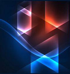 Glowing geometric shapes vector