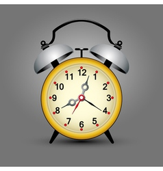yellow clock vector image