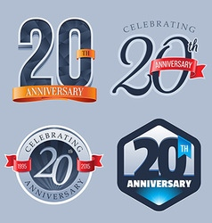 20 Years Anniversary Logo vector image vector image