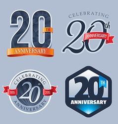 20 Years Anniversary Logo vector image