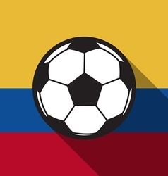 Football icon with colombia flag or ecuador flag vector