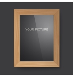 Wooden rectangular frame vector
