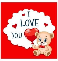 Cartoon greeting card valentines day vector